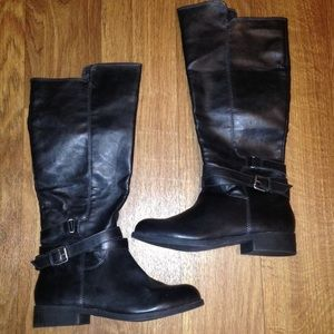 MIA size 7 1/2 black riding knee length boot